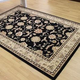Abadan 51 Traditional Black Rug