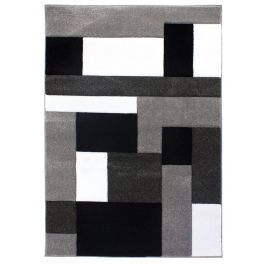 Cosmos Rug Black Grey