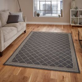 Thin Cottage Rug 7643 Anthracite Sand
