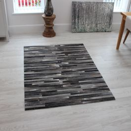 Gaucho Stripe Rugs Dark Grey