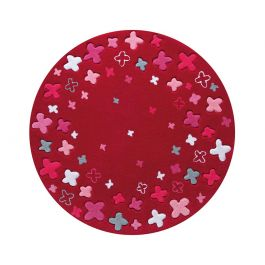 Esprit Bloom Field Red Round Rug