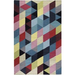 Esprit Rainbow Triangle Kelim Multicolour Rug