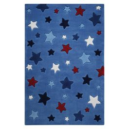 SMART KIDS Simple Stars Blue Rug