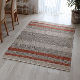Fields Rug Coral Colour