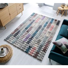 Abstract Archer Multi Coloured Wool Rug