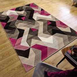 Grey Purple Aurora Rug