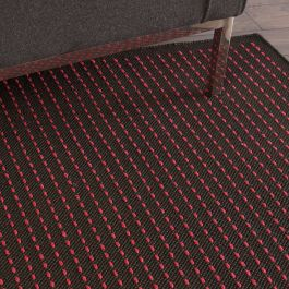 Indoor Outdoor Rug CK740 Black Magenta