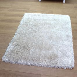 Fresh Shaggy White Ivory Rug