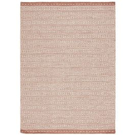 Knox Reversible Rug Coral Wool Dhurry