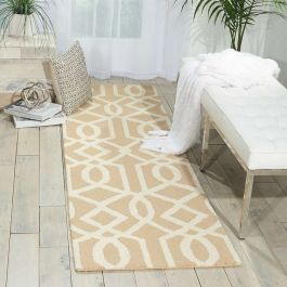 Linear Woolen Rug Sand Ivory LIN05