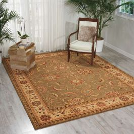 Living Treasures Woolen Rug Green LI04