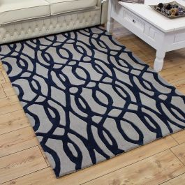 Wire Blue Matrix Rug