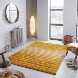 Ombre Ochre Two Tone Rug
