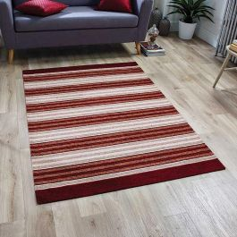 Pacific 182X Rug Red Beige Stripes