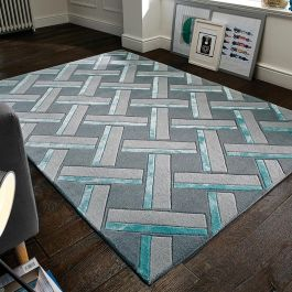 Parquet Rug Grey Duck Egg