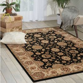 Persian Crown Traditional Rug PC002 Black