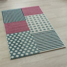 Hearts and Stripes Play Rug