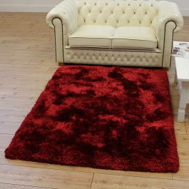 Ultra Thick Plush Shaggy Rugs Red