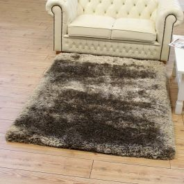 Ultra Thick Plush Rugs Taupe Colour Shaggy