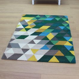 Prism Green Beige Colour Rug