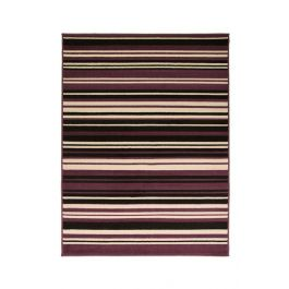 Purple Black Stripes Rug