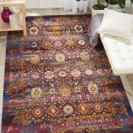Red Multicolour Vintage Kashan Rug VKA03