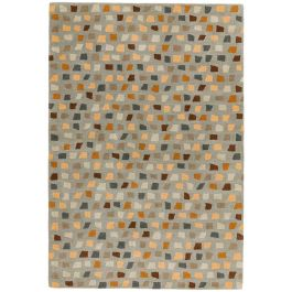 Reef Rug RF07 Pixel Grey Multi Wool