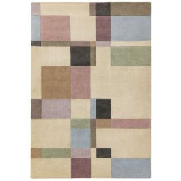 Reef Rug RF17 Blocks Pastel Wool