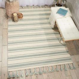 Rio Vista Dhurrie Rug DST01 Ivory Spa