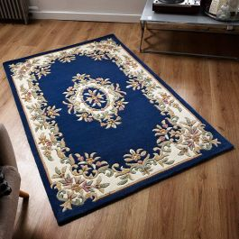 Royal Aubusson Rug Blue Cream