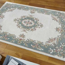 Royal Aubusson cream green rug