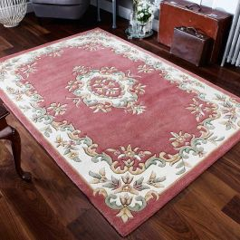 Royal Aubusson rug rose