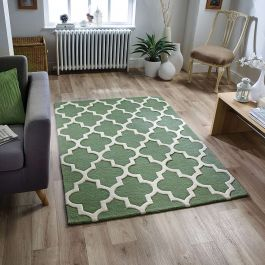 Arabesque Wool Rug Sage Green