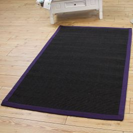 Sisal Rug Purple Border