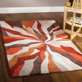 Splinter Rug Stylish Orange