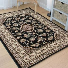 Traditional Sherborne Rug Black