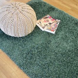 Twilight 4411 Cosy Shaggy Aqua Green Rug