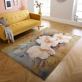 Verona Rug with Pink Floral Pattern