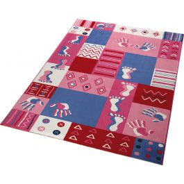 WECON Home Hands & Feet Pink Rug