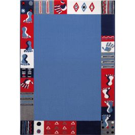 WECON Home Roundly hands & Feet Blue Rug