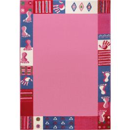 WECON Home Roundly hands & Feet Pink Rug
