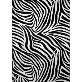WECON Home Zebra Black White Rug