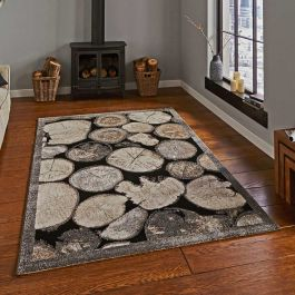 Woodland 4626 Cream Grey Funky Rug