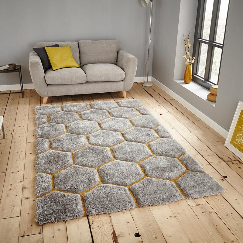 Le House Nh30782 Grey Yellow Rug