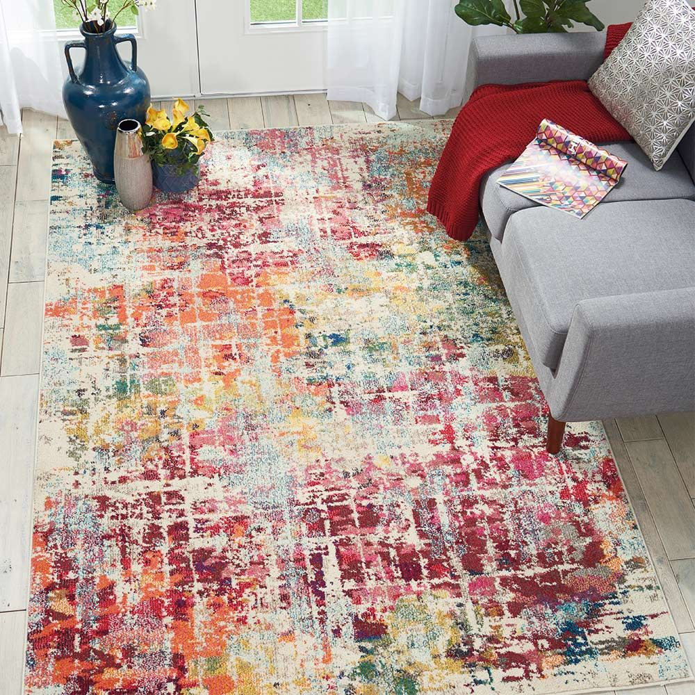 Celestial Rug Ces13 Pink Multi Land Of Rugs