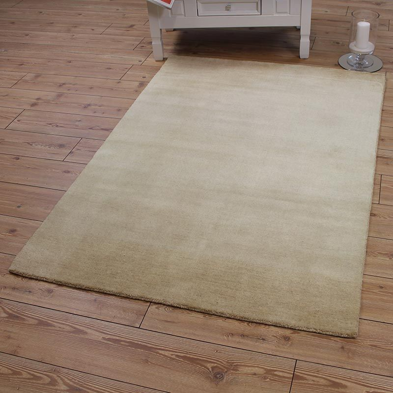 Cream Rainbow Large Wool Rug 120x180cm