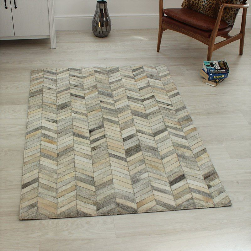 Gaucho Chevron Rug In Sched Leather