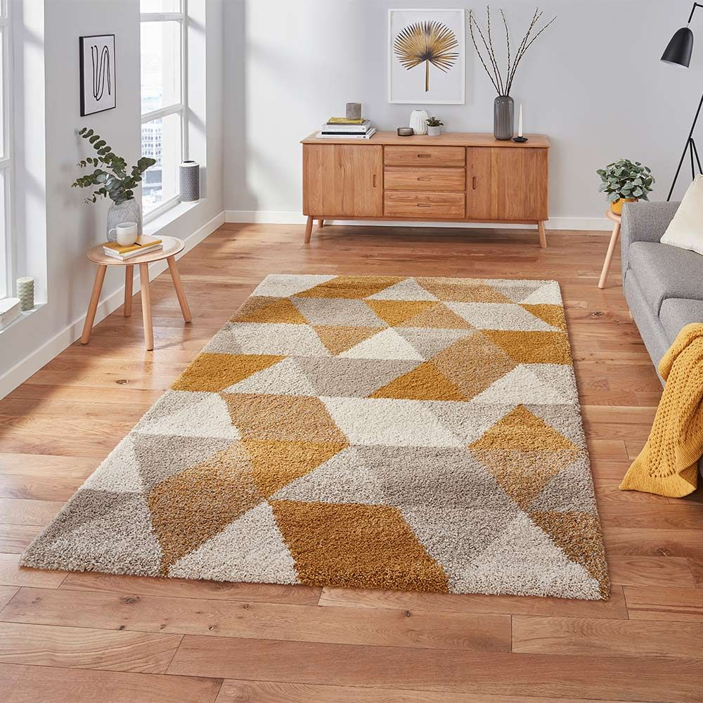 Royal 7611 Nomadic Geometric Beige Ochre Rug Land Of Rugs