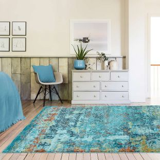 Amelie AM10 Vintage Abstract Multi Coloured Rug