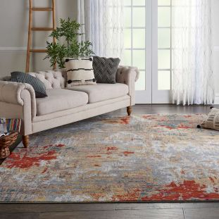 Abstract Artworks ATW03 Silver Grey Rug
